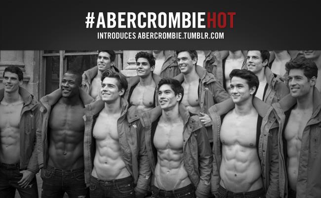 Abercrombie & Fitch Tumblr ad #ABERCROMBIEHOT